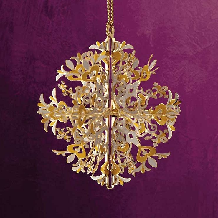 Baldwin Brass Christmas Ornaments Snowflakes and Ice Flowers