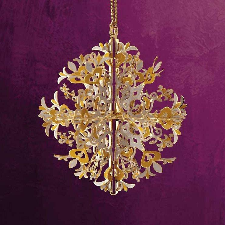 Baldwin brass christmas ornaments snowflakes